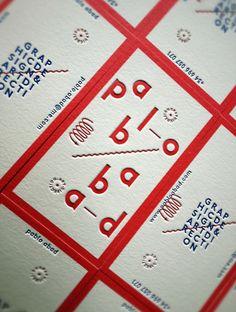 brandingidentitydesign:  PABLO ABAD letterpress business card.View All - 25 Clean & Minimal Business Cards