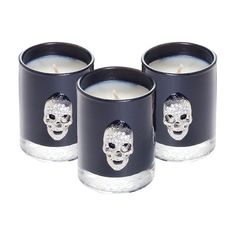 Lisa Carrier Gothic Skull Candle Gift Set found on Polyvore
