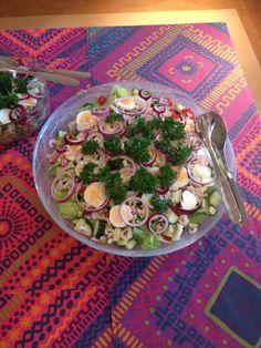 Kananmuna katkarapu salaatti