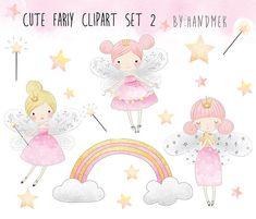Cute Fariy Clipart set 2 Fairy clipart PNG by HandMek Cute Fairy, Baby Fairy, Kit Scrapbook, Fairy Clipart, Fairy Pictures, Affinity Designer, Clip Art, Photo Ornaments, Fairytale Art