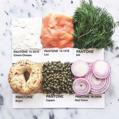 Pantone food colors veggies and others