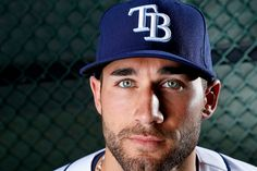 Look at those eyes! Kevin Kiermaier of the Tampa Bay Rays. #Rays #MLB #KevinKiermaier #stud