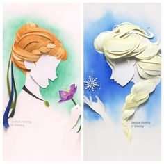 WOW!! // With a few carefully placed cuts and a bit of magic @jackiehuangxu can turn a flat sheet of paper into a breathtaking, 3D portrait of your favorite fictional characters.