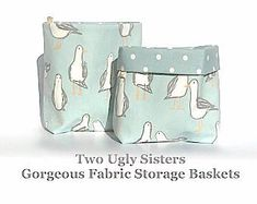 Blue Fabric Bathroom Storage Basket Sea Decor Flower Basket Make Up Bag Gift for Her Knitting Project BagTwo Ugly Sisters Free Shipping Family Christmas Gifts, Gifts For Family, Gifts For Her, Duck Egg Blue Fabric, Coastal Fabric, Fabric Storage Baskets, Luxury Towels, Printed Cushions, Cushion Pads