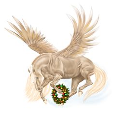 Pegasus Arabian Horse Light Gray