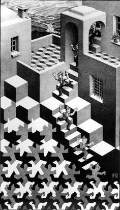 The Impossible World of MC Escher images) Op Art, Escher Kunst, Mc Escher Art, Inspiration Artistique, Dutch Artists, Cycling Art, Optical Illusions, Art History, Painting Art