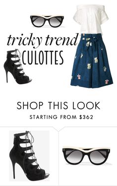 """tricky trend"" by fiona133 on Polyvore featuring Alexander McQueen, STELLA McCARTNEY, Sea, New York, Olympia Le-Tan, TrickyTrend and culottes"