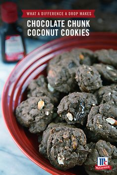 Imagine combining the sweet and satisfying taste of chocolate with the cool and luscious flavor of coconut. Say hello to the Chocolate Chunk Coconut Cookie! Adding McCormick Coconut Extract is the simple and easy way to elevate any holiday cookie recipe.