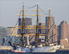 USCGC Eagle was transferred to the United States from Germany as part of war reparations in 1945, and commissioned to the Coast Guard Academy in 1946.