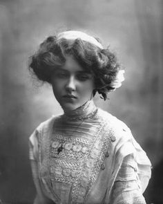 Mamie Whittaker - English Actress. Circa 1910. Photo by Bassano.