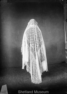 Antique Shetland lace wedding shawl from the Shetland Museum collection. Amazing stuff in there.