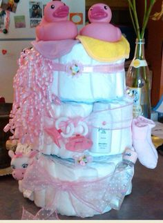 Diaper Cake - Great for Baby Showers