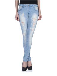 15076909 Skinny regular coral destroy jeans D500 3407bf1d1e5