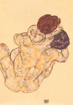 Egon Schiele, Umarmung (Embrace), 1917