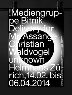 Kasper-Florio Identity for the upcoming exhibition at Helmhaus Zürich, 2014