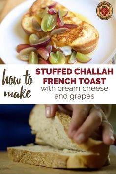 Here's a video showing how to make classic, stuffed French toast that's fluffy and crispy for one, for two, or for a crowd.  Follow this easy breakfast recipe with ingredients like Challah bread and cream cheese, and toppings like grapes from California and maple syrup.  #easy #recipe #stuffed #best #videos #forone #breakfast #fortwo #howtomake #classic #creamcheese #Challah #toppings #crispy #fluffy #stuffedFrenchtoast #stuffedFrenchtoastcreamcheese #Frenchtoast #Frenchtoastrecipe Recipe Videos, Food Videos, Challah French Toast, Breakfast Recipes, Dessert Recipes, Grape Recipes, California Food, Brunch Menu, Maple Syrup