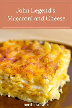 John Legend's Macaroni and Cheese - - When musician John Legend visited Martha Stewart, he shared this recipe for his favorite Southern comfort food. Learn how to make the singer's delicious, creamy macaroni and cheese at home. Southern Macaroni And Cheese, Creamy Macaroni And Cheese, Macaroni Cheese Recipes, Mac And Cheese Homemade, Southern Baked Mac And Cheese Recipe, Macaroni And Cheese Casserole, Martha Stewart Mac And Cheese Recipe, John Legend Mac And Cheese Recipe, Baked Macaroni Recipe