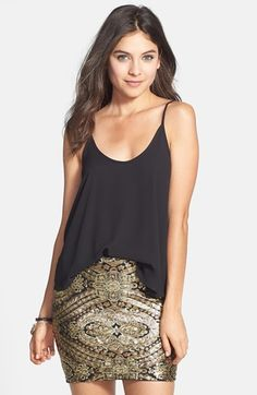 Lily White Sequin Motif Miniskirt (Juniors) available at #Nordstrom