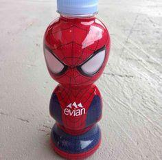 Spider-Man's secret weapon #evian #liveyoung #limitededition #evianSpiderMan #design #packaging #exclusivebottles