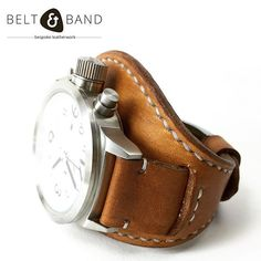 This popular style seems to be re-emerging. Introducing the fixed-cuff style watch strap in thick cow hide with hand stitching. Leather Working, Fashion Watches, Hand Stitching, Watch Straps, Cow Hide, Style Watch, Belt, Handmade Leather, Luxury