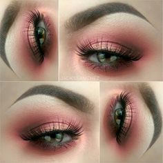 Halo eye make up, pink cranberry, copper, gold. So pretty, perfect eye make up for green or blue eyes.