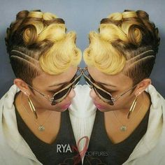 Crimped hair is gorgeous, but only when you do it the right way. What do you need to know in order to get the best crimped look? Dope Hairstyles, My Hairstyle, Black Hairstyles, Updo, Short Hair Cuts, Short Hair Styles, Shaved Hair Designs, Sassy Hair, Hair Affair
