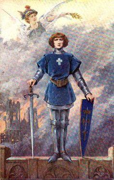 Jeanne d'Arc, or Joan of Arc. A French heroine, she dressed as a man to fight alongside her king. Joan Of Arc Death, Joan D Arc, Saint Joan Of Arc, St Joan, Warrior Angel, Dante Gabriel Rossetti, Joan Of Arc Costume, Women Artist, Art Magique