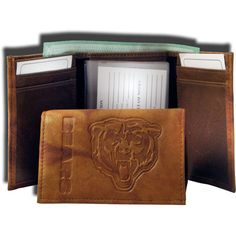 Rico Chicago Embossed Tri-Fold Wallet, Team