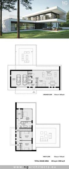 Plan de maison 120m2 Plans Maison in 2018 Pinterest Villas and - plan de maison de 100m2 plein pied