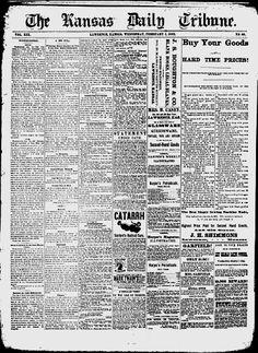 DOUGLAS COUNTY - Lawrence, Kansas - 1882 - The Kansas Daily Tribune - Google News Archive Search
