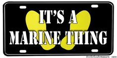 US Marine Corps Boot Camp Yellow Foot Prints Aluminum License Plate