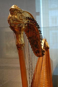 Double-strung Harp at Musee des Instruments de Musique / Musical Instrument Museum, Brussels, Belgium | Flickr - Photo Sharing!