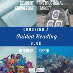 Four ways to choose books for Guided Reading groups.