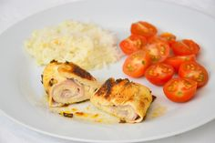 Chicken Breasts Stuffed with Cheese and Ham