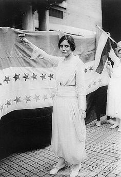 """Alice Paul. Alice Paul Toasting Tennessee's Ratification of the 19th Amendment, August 1920: The leader of the suffrage movement's most militant wing, Alice Paul advocated """"unladylike"""" tactics such as civil disobedience and hunger strikes. In 1920, she proposed an Equal Rights Amendment to the Constitution, which has never been ratified."""
