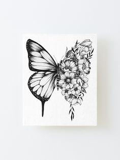 Dope Tattoos, Mini Tattoos, Unique Tattoos, Body Art Tattoos, Small Tattoos, Sleeve Tattoos, Tattos, Butterfly With Flowers Tattoo, Butterfly Tattoos For Women