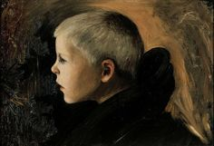 Simberg, Hugo - 1897 Boy from Sakkijarvi, Ateneum Art Museum, Helsinki, Finland Drawing School, Different Kinds Of Art, Digital Museum, Collaborative Art, Vintage Artwork, Art Database, Art Pictures, Photos, Les Oeuvres