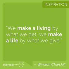 What do you give?