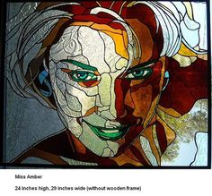 Hadyn Butler - Perivale Gallery Stained Glass Paint, Stained Glass Projects, Stained Glass Patterns, Mosaic Patterns, City Of Glass, Abstract Face Art, Mosaic Portrait, Mosaic Artwork, Tiffany