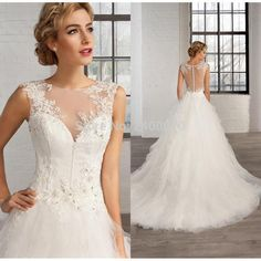 Find More Wedding Dresses Information about 2017 Vintage A Line Lace Wedding Dresses Sheer Crew Neck Court Train  Appliqued Beaded Custom Princess Plus Size Bridal Gowns,High Quality gown glove,China bead plant Suppliers, Cheap bead murano from CDDRESSES Store on Aliexpress.com