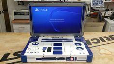 A Custom Star Wars Themed PlayStation 4 Video Game Console Laptop History Of Video Games, New Video Games, Playstation, Xbox 360, Consoles, R2d2, Videogames, Star Wars Games, Old Video