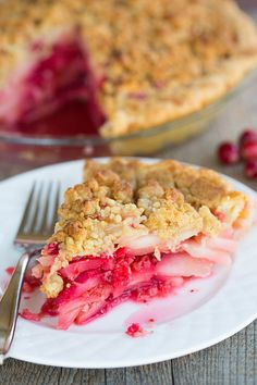 Cranberry-Ginger Pear Pie #recipe
