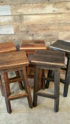 Reclaimed Rectangle Barn Wood Bar Stool Sealed or Painted FREE SHIPPING - REBSC128F by timelessjourney on Etsy https://www.etsy.com/listing/115710804/reclaimed-rectangle-barn-wood-bar-stool