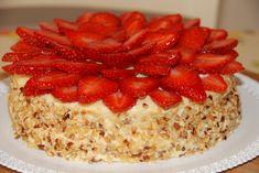 Torta fragole e crema