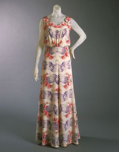 Elsa Schiaparelli Dress, Summer 1937