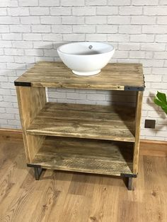 Vinterior is the online marketplace where the world buys and sells remarkable vintage and antique furniture across every lifestyle, budget and taste. Traditional Vanity Units, Hairpin Dining Table, Reclaimed Wood Vanity, Bathroom Vanity Units, Rustic Industrial, Antique Furniture, Home Remodeling, Furniture Design, The Unit