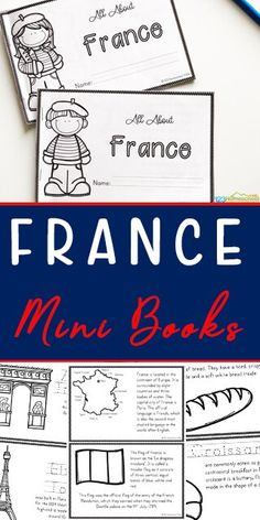 FREE France for Kids Printable Mini Book - this countries for kids printable is a great way to help kids learn about other countries, famous landmarks, geography, with information and french coloring pages French Lessons For Beginners, Free French Lessons, Lessons For Kids, Spanish Lessons, Teaching Kids, Kids Learning, Learning French For Kids, Learning Italian, Teaching Reading