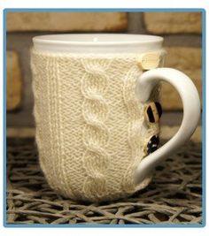handmade kubek w sweterku ręcznie robiony borys