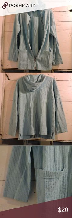 Powder Blue Hooded Hoodie L.L. BEAN WOMEN'S HOODIE  Like new!     SIZE: Medium     COLOR: Powder Blue     MATERIAL: 100% Cotton L.L. Bean Tops Sweatshirts & Hoodies