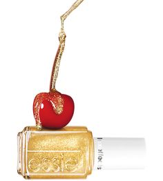 """Essie's """"As Gold As It Gets"""" glitter top coat can spice up any polish for the summer! #colorsofsummer"""